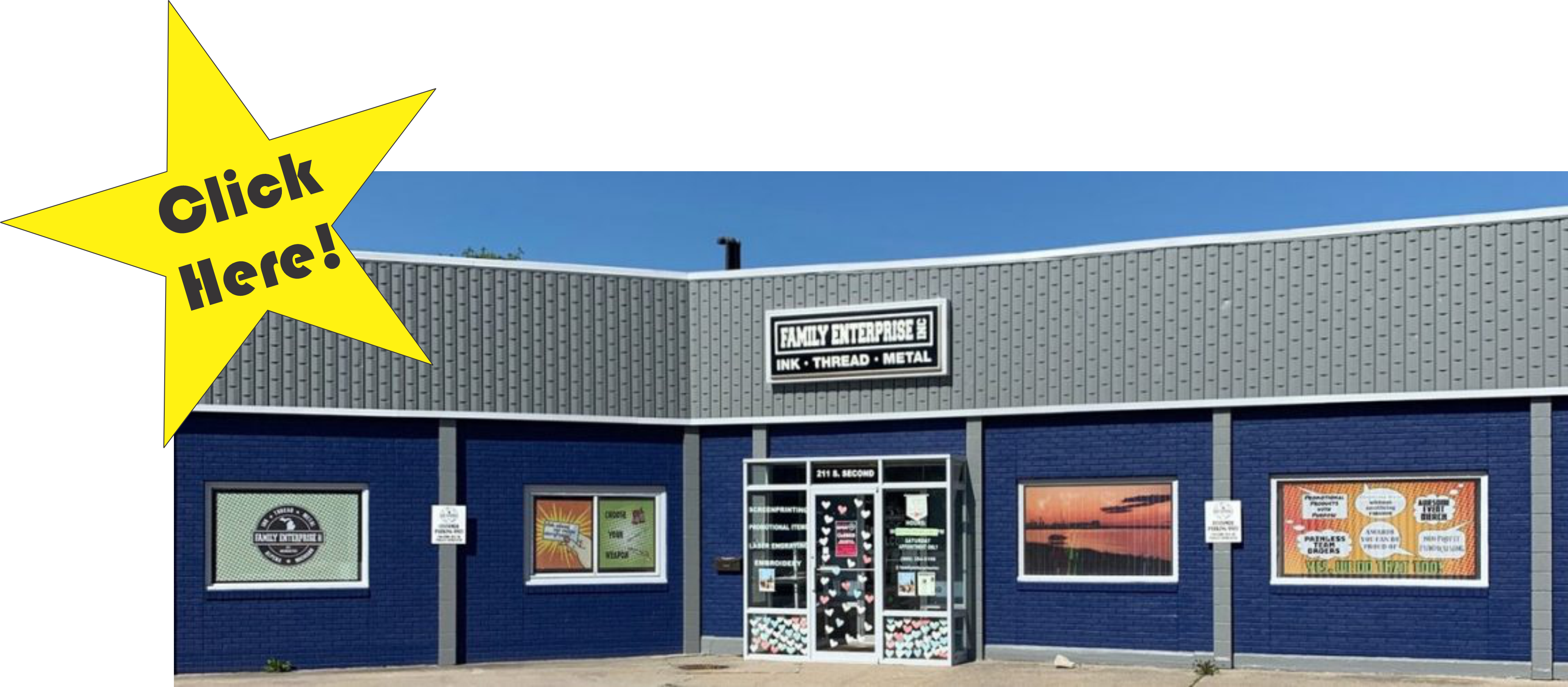 The front of the Family Enterprise inc storefront